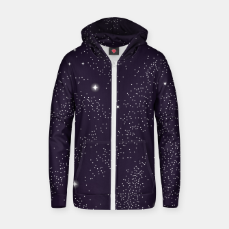 Thumbnail image of Universe with planets and stars seamless pattern, cosmos starry night sky 003 Cotton zip up hoodie, Live Heroes