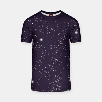 Thumbnail image of Universe with planets and stars seamless pattern, cosmos starry night sky 003 T-shirt, Live Heroes