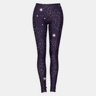 Thumbnail image of Universe with planets and stars seamless pattern, cosmos starry night sky 003 Leggings, Live Heroes