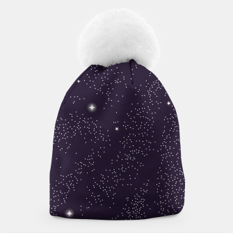 Miniatur Universe with planets and stars seamless pattern, cosmos starry night sky 003 Beanie, Live Heroes