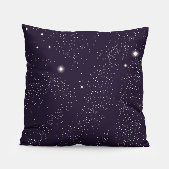 Thumbnail image of Universe with planets and stars seamless pattern, cosmos starry night sky 003 Pillow, Live Heroes