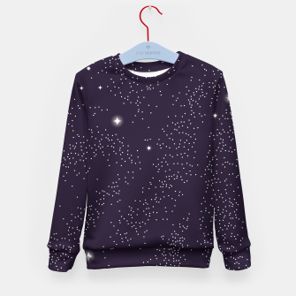Thumbnail image of Universe with planets and stars seamless pattern, cosmos starry night sky 003 Kid's sweater, Live Heroes