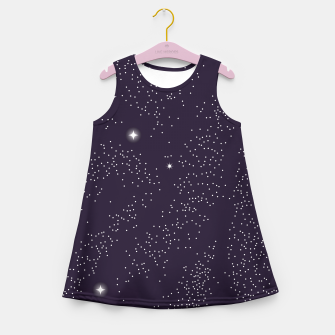 Thumbnail image of Universe with planets and stars seamless pattern, cosmos starry night sky 003 Girl's summer dress, Live Heroes