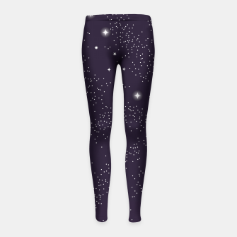 Thumbnail image of Universe with planets and stars seamless pattern, cosmos starry night sky 003 Girl's leggings, Live Heroes