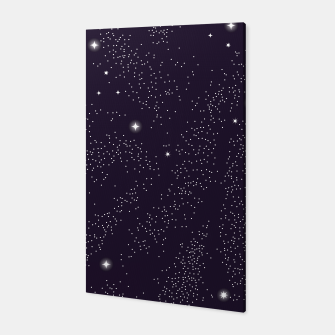 Miniatur Universe with planets and stars seamless pattern, cosmos starry night sky 003 Canvas, Live Heroes