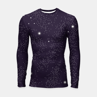 Thumbnail image of Universe with planets and stars seamless pattern, cosmos starry night sky 003 Longsleeve rashguard , Live Heroes