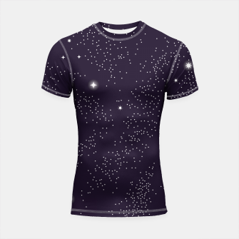 Thumbnail image of Universe with planets and stars seamless pattern, cosmos starry night sky 003 Shortsleeve rashguard, Live Heroes