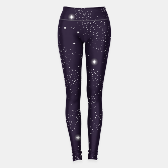 Miniatur Universe with planets and stars seamless pattern, cosmos starry night sky 003 Leggings, Live Heroes