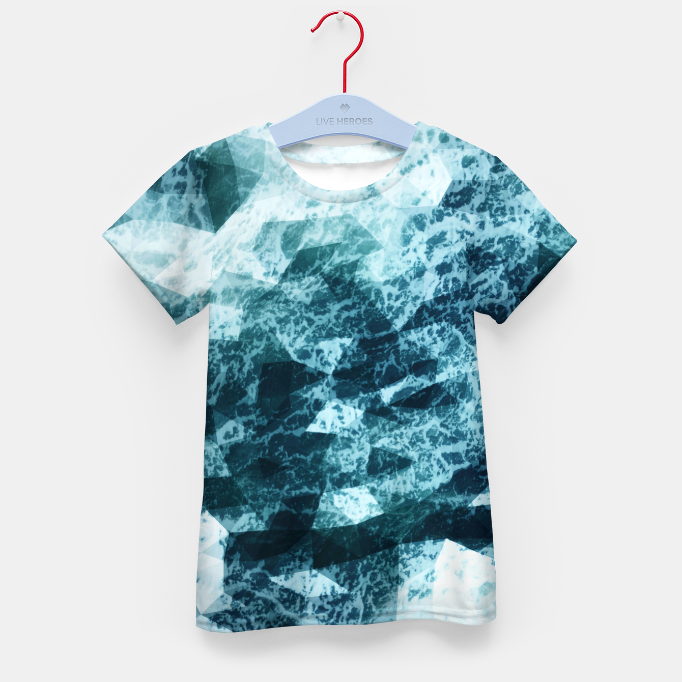 Image de Wild Sea LowPoly Style T-Shirt für kinder - Live Heroes