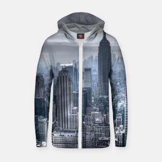 Miniature de image de new york skyline c Cotton zip up hoodie, Live Heroes