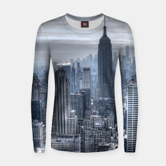 Miniature de image de new york skyline c Woman cotton sweater, Live Heroes