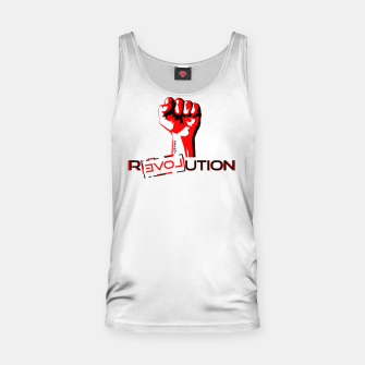 Miniatur Update Signs Revolution White Tank Top, Live Heroes