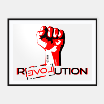 Thumbnail image of Update Signs Revolution White Plakaty w ramie , Live Heroes