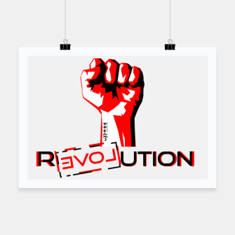 Thumbnail image of Update Signs Revolution White Plakat, Live Heroes