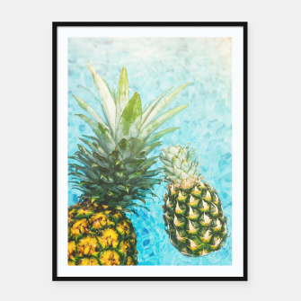 Miniaturka Pineapple in Swimming Pool Framed poster, Live Heroes