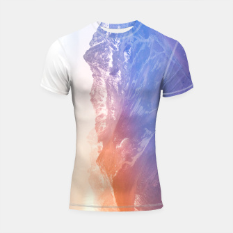 Thumbnail image of Color clouds on the Mountains Shortsleeve rashguard, Live Heroes