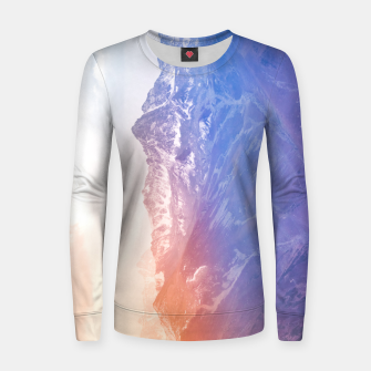Thumbnail image of Color clouds on the Mountains Woman cotton sweater, Live Heroes