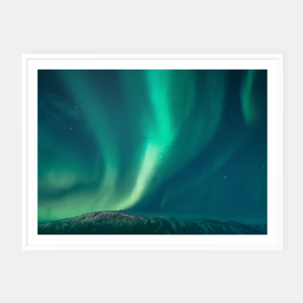 Thumbnail image of Aurora Borealis Framed poster, Live Heroes