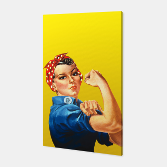 Thumbnail image of We Can Do it - Rosie The Riveter Canvas, Live Heroes