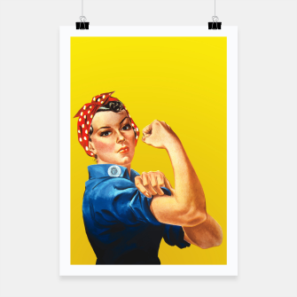 Thumbnail image of We Can Do it - Rosie The Riveter Poster, Live Heroes