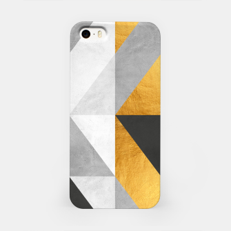 Thumbnail image of Modern Art with Gold iPhone Case, Live Heroes