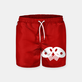 Thumbnail image of Lil Skulls on Red (men's shorts), Live Heroes