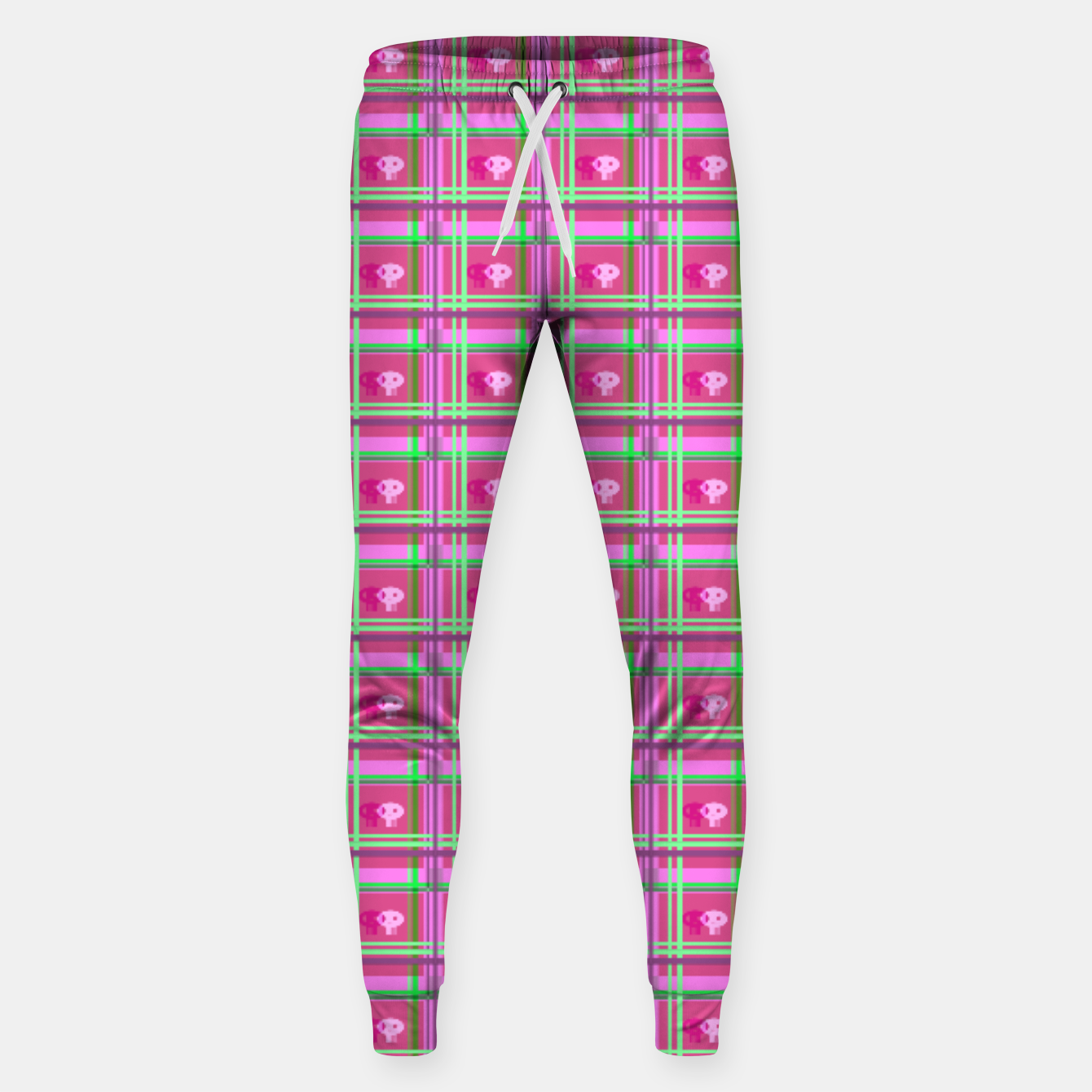 Image of Pink Candy Skull (sweatpants) - Live Heroes