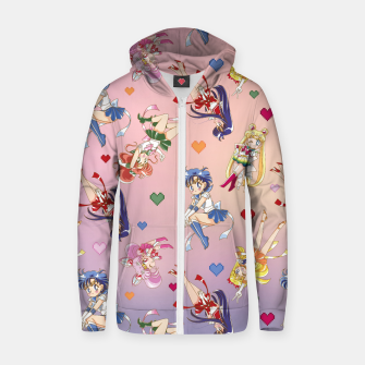 Thumbnail image of Chibi Inner Senshi Cotton zip up hoodie, Live Heroes