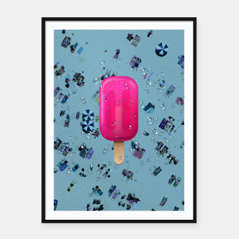 Pink Ice Framed poster miniature