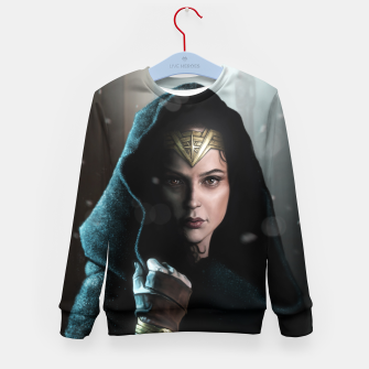 Thumbnail image of Warrior Princess Kid's sweater, Live Heroes