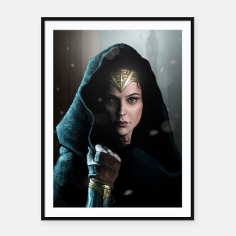 Thumbnail image of Warrior Princess Framed poster, Live Heroes