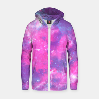 Thumbnail image of Pastel Goth Galaxy Aesthetic Cotton zip up hoodie, Live Heroes