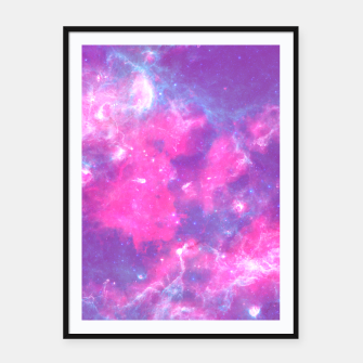 Thumbnail image of Pastel Goth Galaxy Aesthetic Framed poster, Live Heroes