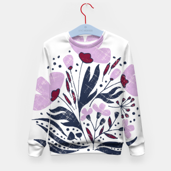 Thumbnail image of Navy and Orchid Floral Dance Kid's sweater, Live Heroes