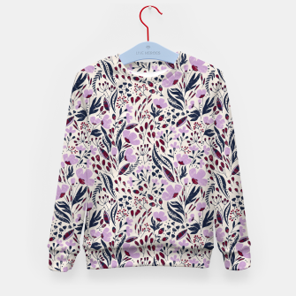 Thumbnail image of Navy and Orchid Floral Dance Seamless Kid's sweater, Live Heroes
