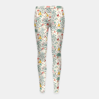 Thumbnail image of Succulent and Triangles Girl's leggings, Live Heroes