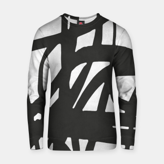 Thumbnail image of Black and white expressionism Cotton sweater, Live Heroes