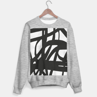 Thumbnail image of Black and white expressionism Sweater regular, Live Heroes