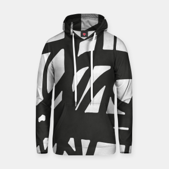 Thumbnail image of Black and white expressionism Cotton hoodie, Live Heroes
