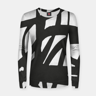 Thumbnail image of Black and white expressionism Woman cotton sweater, Live Heroes