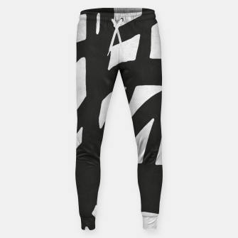 Thumbnail image of Black and white expressionism Cotton sweatpants, Live Heroes
