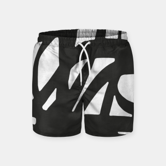 Thumbnail image of Black and white expressionism Swim Shorts, Live Heroes
