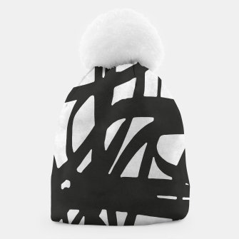 Thumbnail image of Black and white expressionism Beanie, Live Heroes