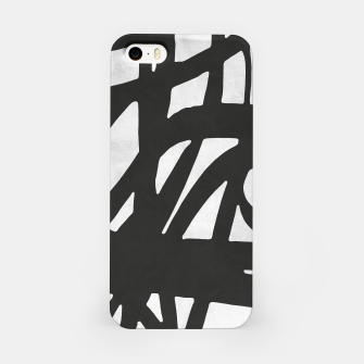 Thumbnail image of Black and white expressionism iPhone Case, Live Heroes