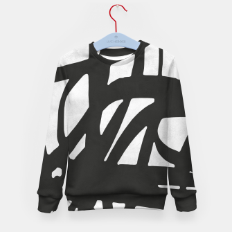 Thumbnail image of Black and white expressionism Kid's sweater, Live Heroes