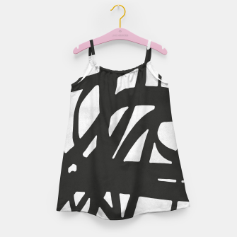 Thumbnail image of Black and white expressionism Girl's dress, Live Heroes