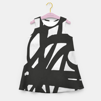 Thumbnail image of Black and white expressionism Girl's summer dress, Live Heroes