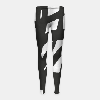 Thumbnail image of Black and white expressionism Girl's leggings, Live Heroes