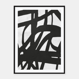 Thumbnail image of Black and white expressionism Framed poster, Live Heroes