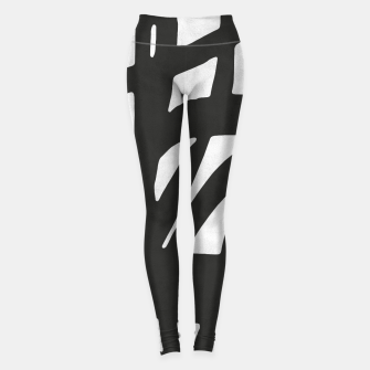 Thumbnail image of Black and white expressionism Leggings, Live Heroes